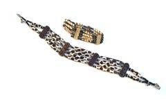 Afrikansk halsband och armband Arkivfoton