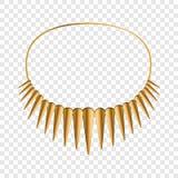 Afrikansk halsbandsymbol, tecknad filmstil royaltyfri illustrationer