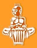afrikansk handelsresande Slagverkspelare Stam- bongo- eller djembemusik vektor illustrationer