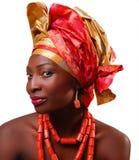 afrikansk headwrapkvinna arkivbilder
