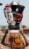 AFRIKANSK HJÄLMMASKERAD Royaltyfri Fotografi