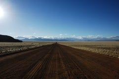 afrikansk huvudväg namibia Arkivbilder
