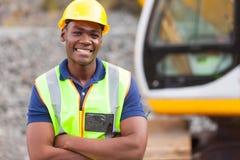 Afrikansk industriarbetare royaltyfria bilder