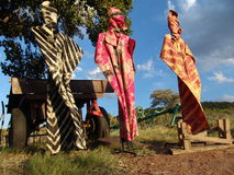 afrikansk klänning Arkivbild