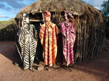afrikansk klänning Fotografering för Bildbyråer