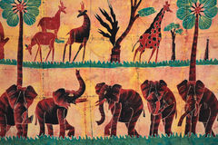 afrikansk konst Arkivfoto
