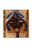afrikansk konstflicka Arkivbilder