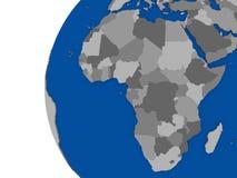 Afrikansk kontinent på det politiska jordklotet stock illustrationer