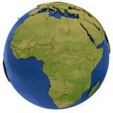 Afrikansk kontinent på jord vektor illustrationer