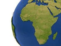 Afrikansk kontinent på jord royaltyfri illustrationer