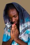 afrikansk kristen kvinna arkivbild