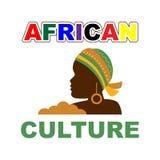 Afrikansk kultur som är färgrik med kvinnavektorillustrationen vektor illustrationer
