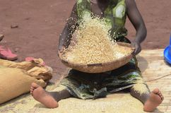 afrikansk kvinna royaltyfri bild
