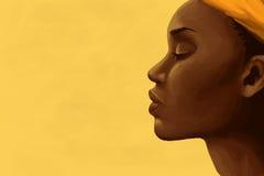 afrikansk kvinna royaltyfri illustrationer