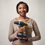 Afrikansk kvinna med drillborren Royaltyfri Bild