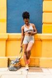 Afrikansk kvinnaidrottsman nen Royaltyfri Fotografi