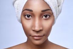 Afrikansk kvinnaskönhet Arkivfoton