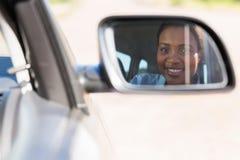 Afrikansk kvinnlig chaufför Royaltyfria Foton
