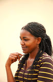 afrikansk kvinnlig deltagare royaltyfria bilder