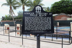 Afrikansk kyrkogårdmarkör, Key West Florida arkivbild