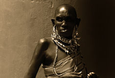 afrikansk lady Royaltyfri Fotografi