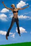 afrikansk lycklig kvinna Arkivfoto
