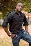 afrikansk male modell Arkivbild