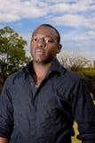 afrikansk male modell Arkivfoto
