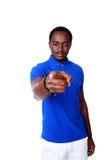 Afrikansk man som pekar på dig Royaltyfri Bild