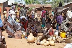 Afrikansk marknad Arkivfoton