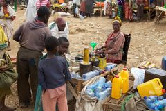 Afrikansk marknad Arkivfoto