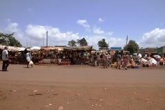 Afrikansk marknad - Kenya Royaltyfria Bilder