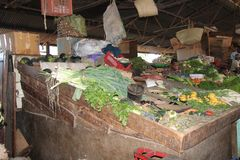 afrikansk marknadsgata Royaltyfri Bild