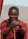 afrikansk masai arkivbild