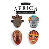 Afrikansk maskering - Arkivfoton