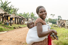 afrikansk moder arkivbild
