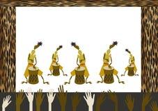 afrikansk musikal Arkivbilder
