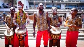 Afrikansk musikband Arkivbilder