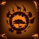 Afrikansk natur royaltyfri illustrationer