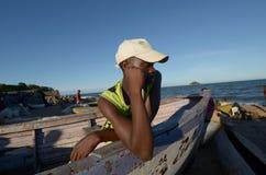 afrikansk pojke Fotografering för Bildbyråer