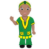 Afrikansk pojkevektorillustration stock illustrationer