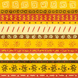 afrikansk prydnad vektor illustrationer