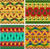 afrikansk prydnadset stock illustrationer