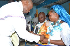 AFRIKANSK RELIGIÖS FÖRBINDELSE Fotografering för Bildbyråer