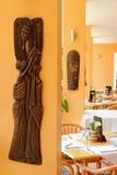 Afrikansk restaurang som äter middag område Royaltyfri Foto