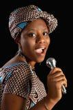 Afrikansk sång Arkivfoto