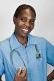 afrikansk sjuksköterska royaltyfria bilder
