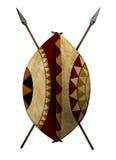 afrikansk sköld Royaltyfri Bild