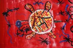 Afrikansk sköldpadda Fotografering för Bildbyråer