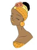 afrikansk skönhet stock illustrationer